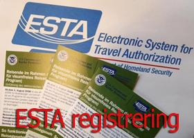 ESTA registrering